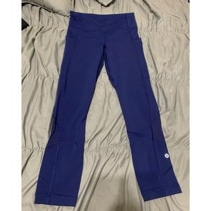 lululemon leggings deep royal blue size 2